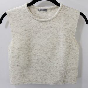Zara W88 Collection Crewneck Crop Top Size M